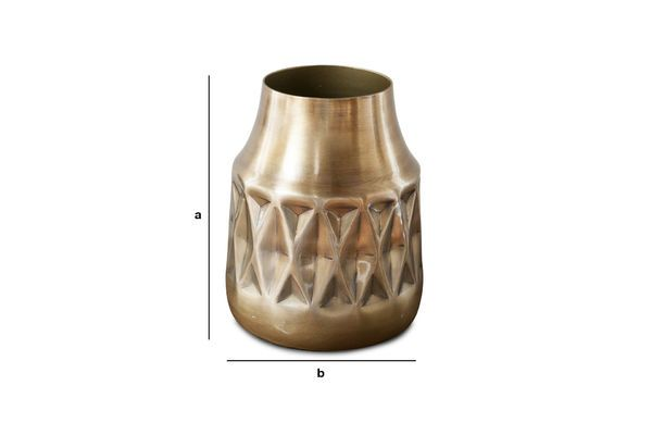 Product Dimensions Layti Brass Vase
