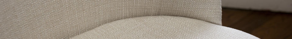 Material Details Lear cream chair
