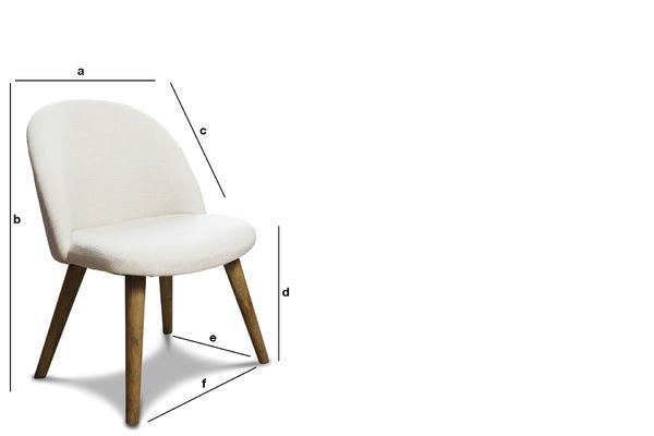 Product Dimensions Lear cream chair