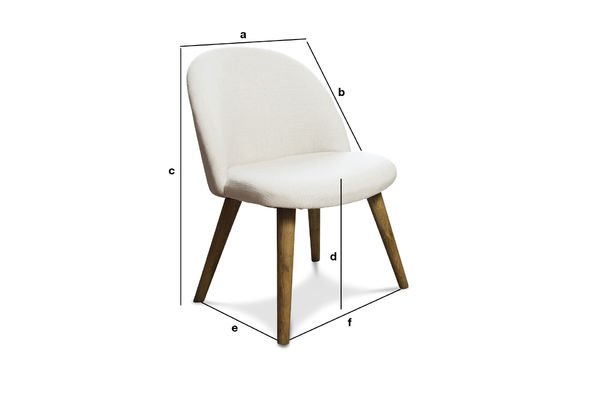 Product Dimensions Lear cream chair