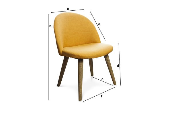 Product Dimensions Lear mustard chair