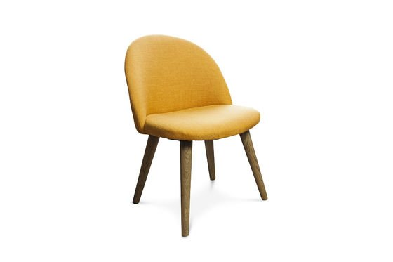 Lear mustard chair Clipped