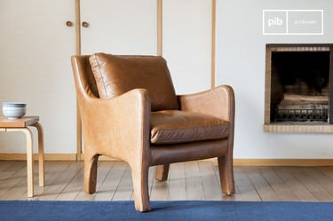 Leather armchair Edimbourg
