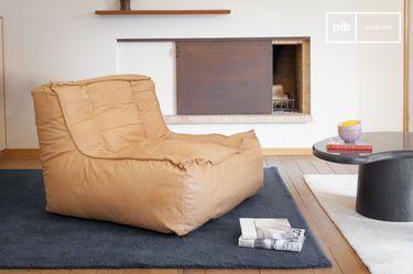 Leather armchair Matignon