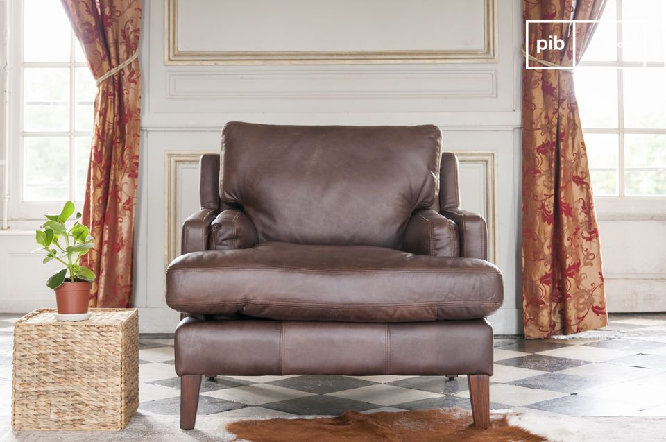 In the great tradition of the English leather armchair