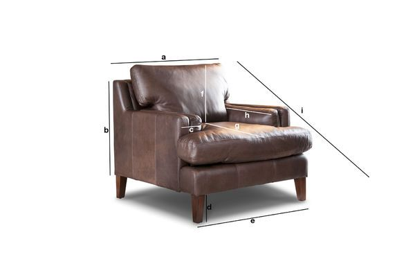 Product Dimensions Leather armchair Sanary