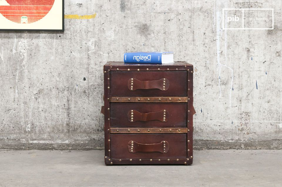 Leather chest of drawers Edgar