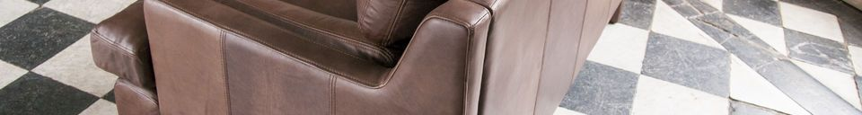Material Details Leather sofa Sanary