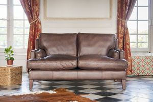 Leather sofa Sanary