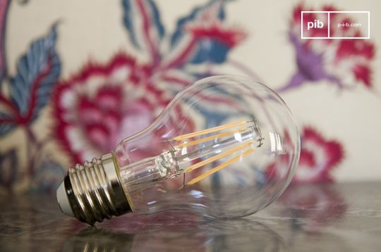 Led bulb 6cm with vintage filament