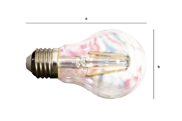 Product Dimensions Led bulb 6cm with vintage filament