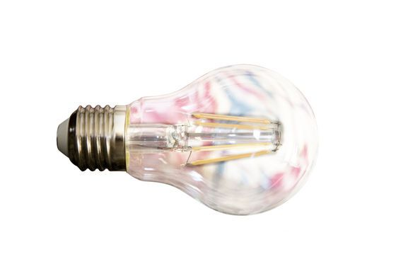 Led bulb 6cm with vintage filament Clipped