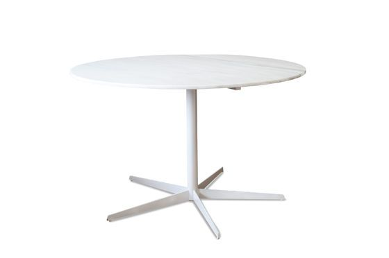 Lemvig white marble round table Clipped
