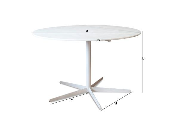 Product Dimensions Lemvig white marble round table