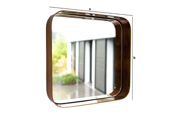 Product Dimensions Lena square mirror