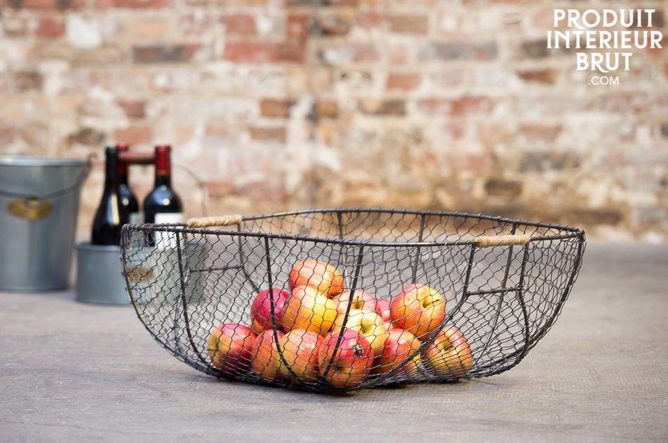 Libourne metallic basket