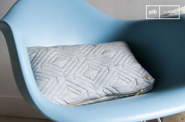 Light Grey Quilted Cushion