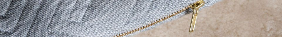Material Details Light Grey Quilted Cushion