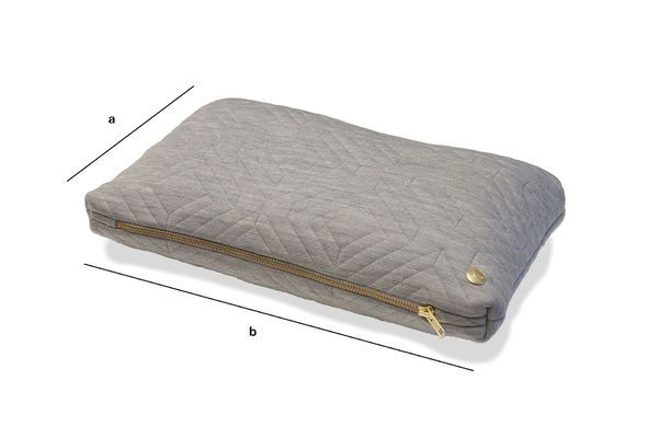Product Dimensions Light Grey Quilted Cushion