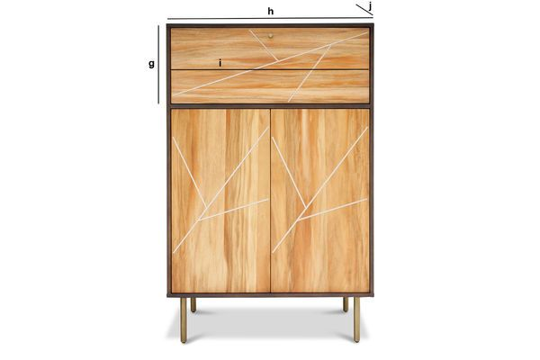 Product Dimensions Linéa wooden Cabinet