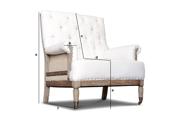 Product Dimensions Linen armchair Edmond
