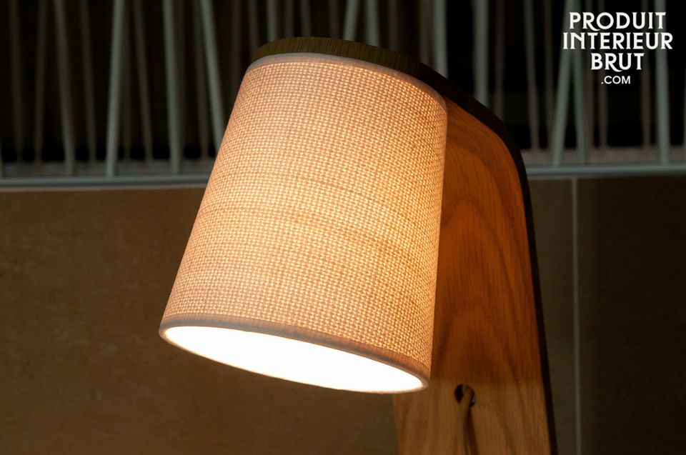 The simple beauty of a slightly curved solid wood light