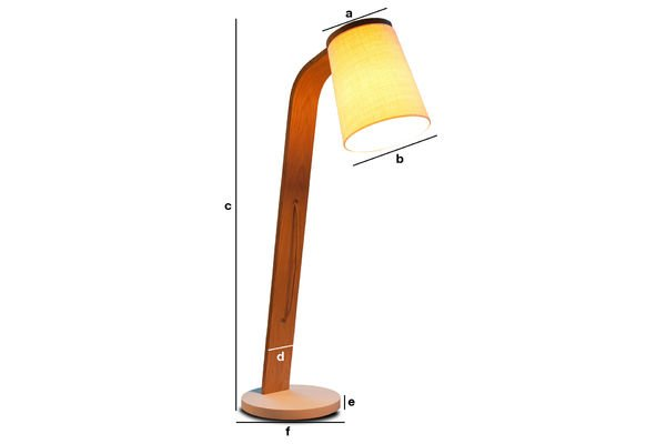 Product Dimensions Lodge wooden standard light
