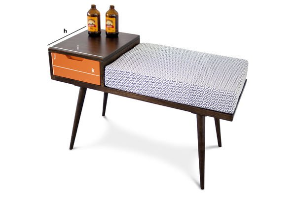 Product Dimensions Londress bench drawer