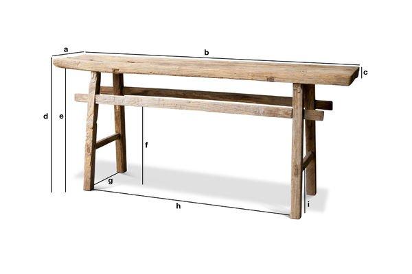 Product Dimensions Long console table Vizzavona