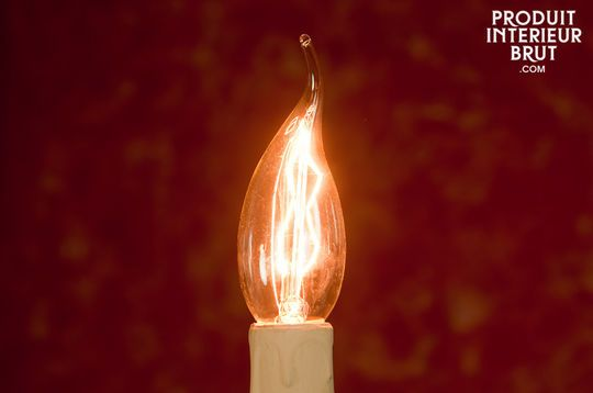 Long-filament flame bulb