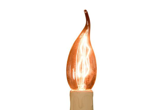 Long flame filament light bulb 40W Clipped