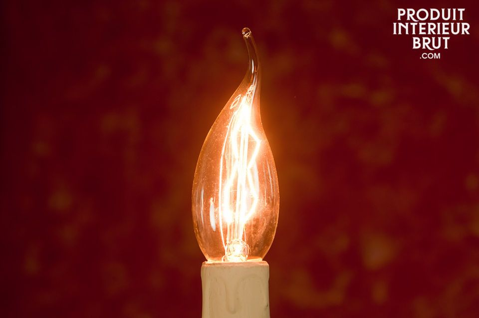 Long flame filament light bulb 40W