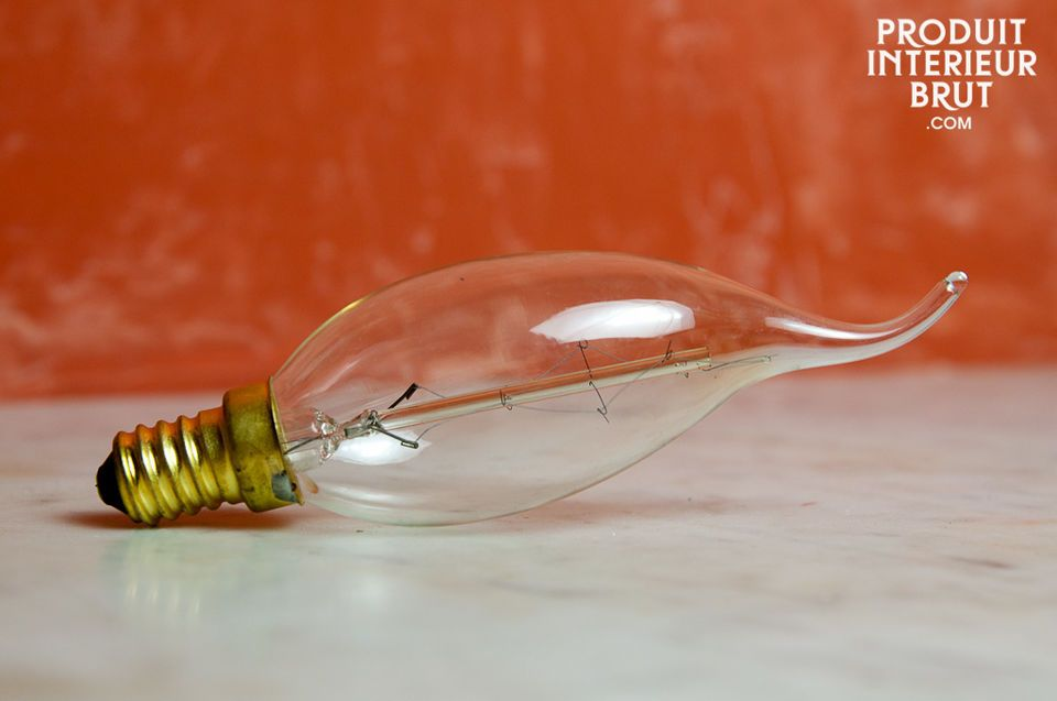 The charm of a retro style light bulb