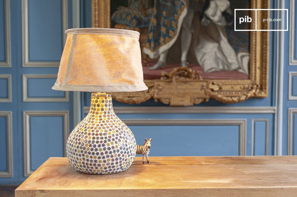 Mosaic styled colour lamp for the table or desk