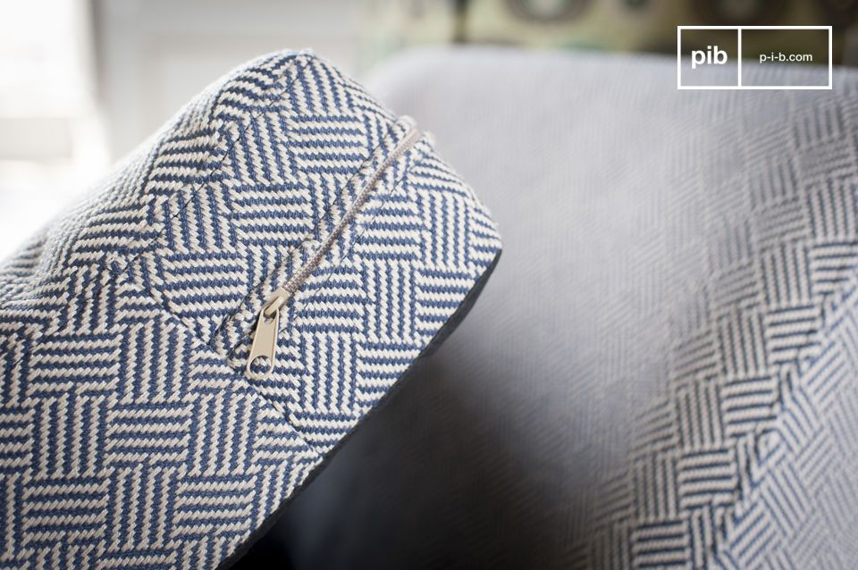 The fabric has elegant geometric patterns.