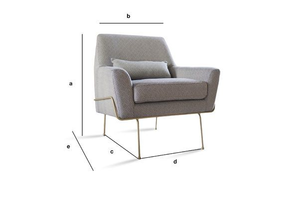 Product Dimensions Lounge armchair Hilda