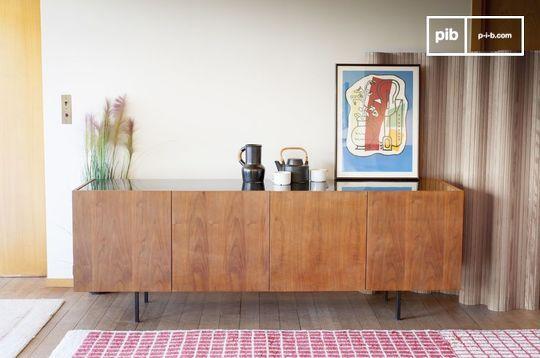 Lovisa marble and wood sideboard