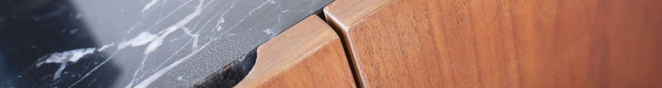 Material Details Lovisa marble and wood sideboard