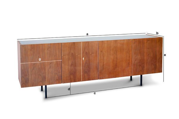 Product Dimensions Lovisa marble and wood sideboard