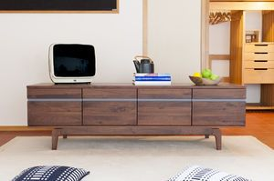 Low sideboard Neliö in  walnut