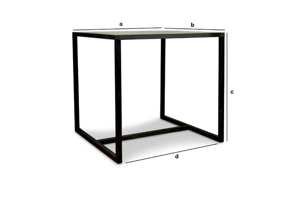 Product Dimensions Manhattan square table