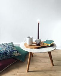 Scandinavian marble coffee tables