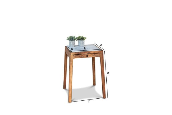 Product Dimensions Marmori Marble End Table