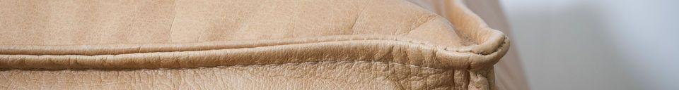 Material Details Marsliden leather pouf