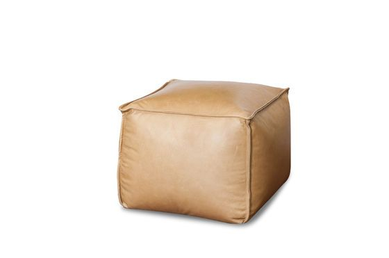 Marsliden leather pouf Clipped