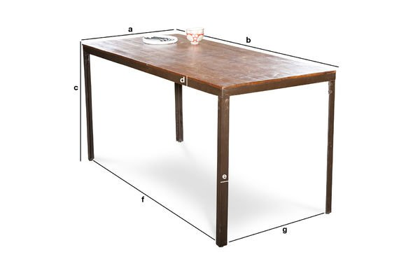 Product Dimensions Masaï table