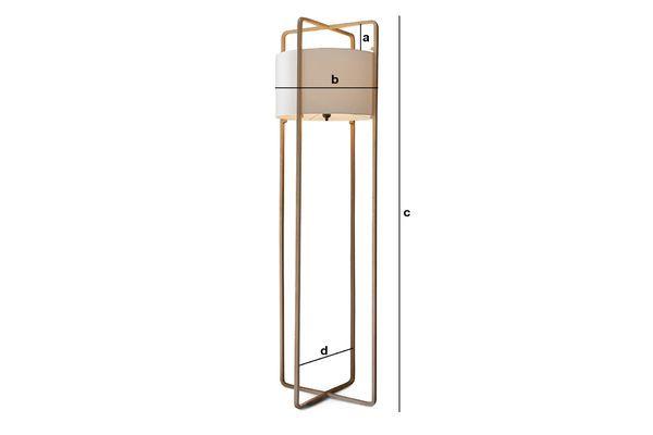 Product Dimensions Maspo floor lamp