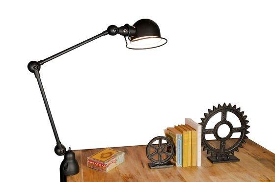 Mat black Jieldé Loft light with clamp Clipped