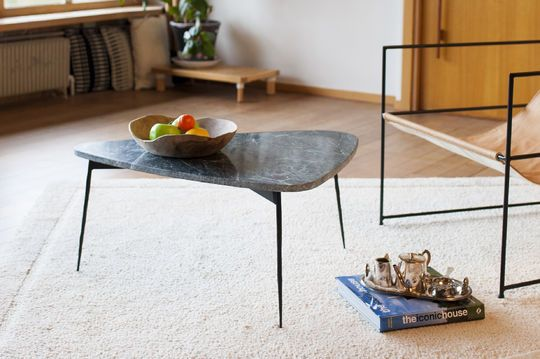 Maybury tripod table in green marble