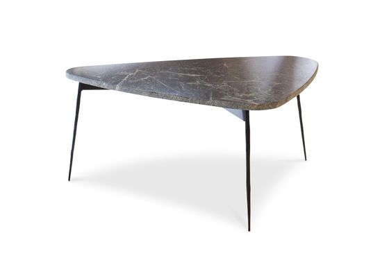 Maybury tripod table in green marble Clipped